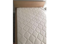 Ikea Malm Queen Size Wooden Bed Frame & Sultan Hallen Mattress Hardly Used Very Good Condition