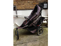 Phil & Teds Sport single or double buggy, push chair, pram & accessories black and grey