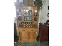 Antique Victorian Pine Dresser tiled back to the centre