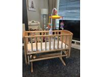 Mothercare deluxe gliding crib - Pine