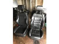 Recaro heated leather seats Mk4 golf 5 door