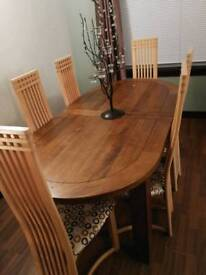 'Athens dining table' and 6 chairs.