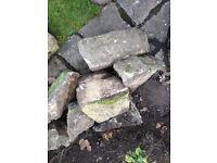 Dismantled Rockery Stones