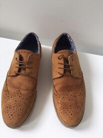 NEXT size 5 boys tan brogues, worn once, near perfect condition