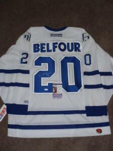 Toronto Maple Leafs Authentic Signed Jerseys with COA TML NHL Belfour Bower Rielly