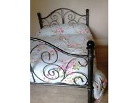 A LOVELY METAL STURDY DOUBLE BED FRAME (& free mattress IF REQUIRED) £120.00