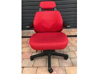 Desk Chair - Very comfortable, good lumbar support, multiple adjustments possible