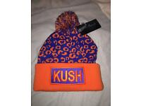 Assorted hats beanies