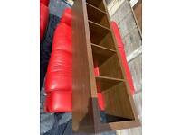 Shelves dark brown