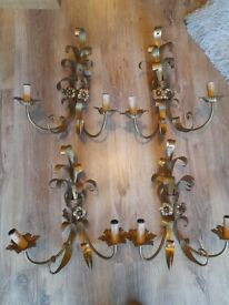 Christopher Wray brass wall lights