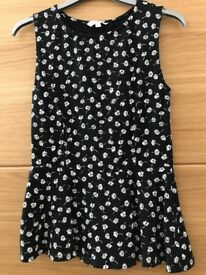 New Look Peplum top size 8 as new