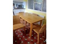 Solid Pine Table & 4Chairs