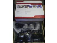 discreet bullet camera 8ch cctv system dvr + 4 outdoor/indoor cameras and all cables
