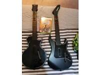 Xbox 360 Guitar hero game with 2 guitars