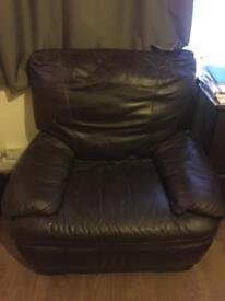 Dark brown Armchair