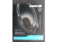 Brand new - Sealed - Sennheiser HD 2.20s Ear Headphones - Powerful bass response