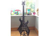 B.C. Rich Special Edition Metal Web Warlock guitar