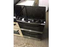Zanussi ZCI68300XA Electric Cooker, Stainless Steel INDUCTION HOB