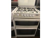 60CM WHITE CANNON GAS COOKER DOUBLE OVEN