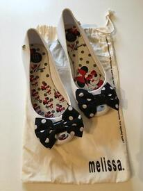 Mini Melissa & Minnie Mouse collaboration pumps size uk2 in VGC