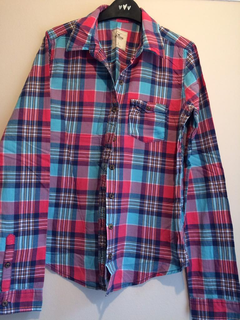 Hollister checked shirt size S