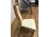 Oak furniture land dining chairs!