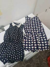 2 next playsuits aged 8
