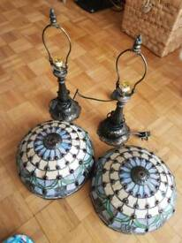 Two Tiffany styled lamps