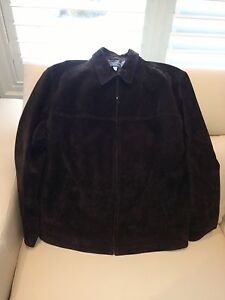 Men's Large Dark Brown Suede Coat - Excellent Condition Kitchener / Waterloo Kitchener Area image 2