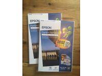 Photo paper packs, Glossy and semiglossy, Kidak and Epson, 10x15 cm and 13x18cm, new packs