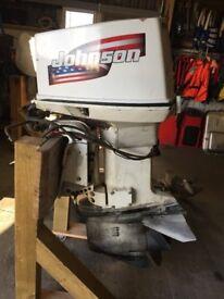 140HP JOHNSON V4 OUTBOARD BOAT ENGINE LONG SHAFT POWER TILT & TRIM SPARES OR REPAIR