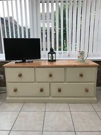 Cotswold Pine Topped Low Sideboard / Like New