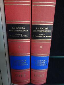 La Società Contemporanea - UTET - 1987 - Castronovo Gallino - II Volumi - Italia - L'oggetto può essere restituito - Italia