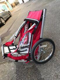 Single buggy child bike trailer