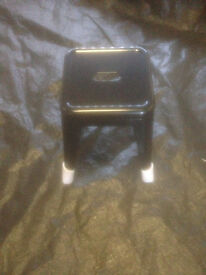 Small Stacking Metal Industrial Style Stool in Used Condition