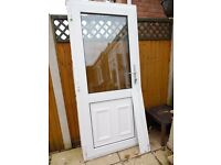 WHITE UPVC DOUBLE GLAZED REAR DOOR