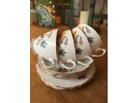 Royal Vale bone china cups & saucers