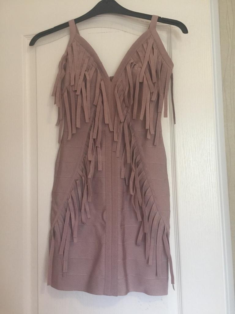 Pink boutique bandage dress