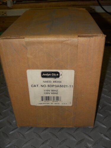 JOSLYN CLARK 5DP3A5021-11 DC Drive Contactor, DP Series, 2-Pole N/O, 120VAC Coil