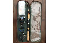 Fishing rod set with bag and tackle box