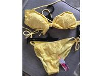 Brand new with tags! Yellow bikini - Size 12