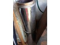 Woodburner, back boiler and stainless flue
