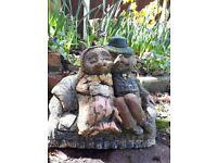 Garden ornament- hedgehog couple