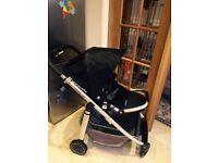 Uppababy Cruz pushchair and maxi-cost car seat