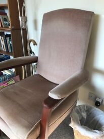 Velvet armchair with wooden frame (reduced!)