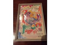 Vintage metal picture frame, 15cm by 22cm