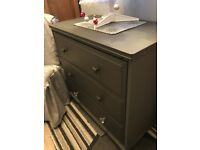 Gorgeous charcoal chest of drawers
