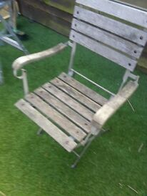 old metal gardern chairs original condition