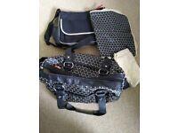 Babymel Black Spots Changing Bag & Mat