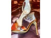 rose gold high heels size 4